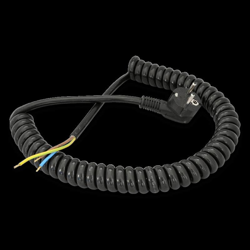 Spiralkabel Mit Stecker 3 X 1,5 Mm²