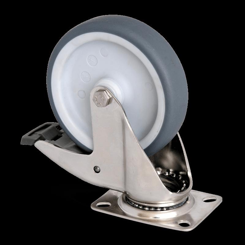 Lenkrolle Mit Feststeller – Durchmesser 125 Mm – CNS