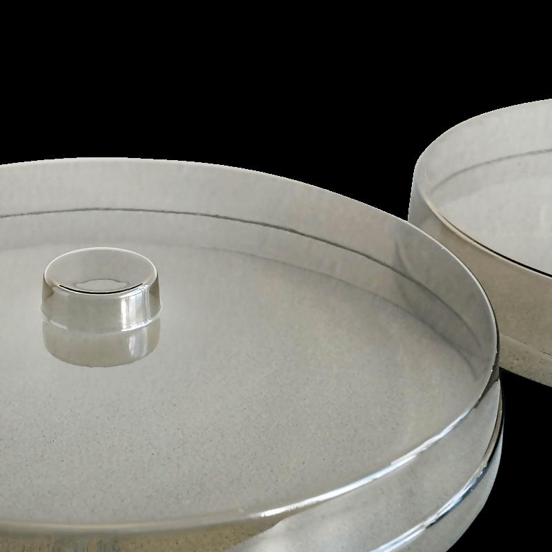 Kunststoff Deckel Rund – Smoke Klarsicht DFR 210
